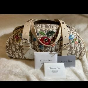 Auth Rare Dior Embroidered Favorbly Yours Purse